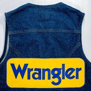 Wrangler Jackets & Coats - Wrangler Western Denim Vest OFFICIAL PATCH